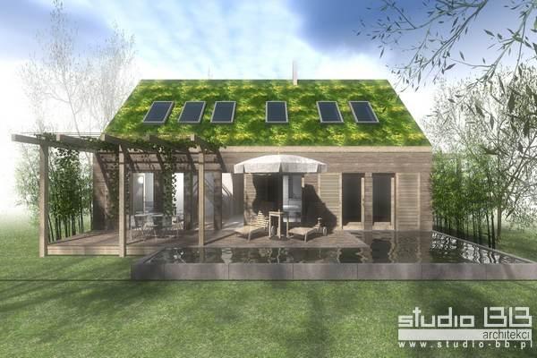 dom energooszczędny w konstrukcji drewnianej