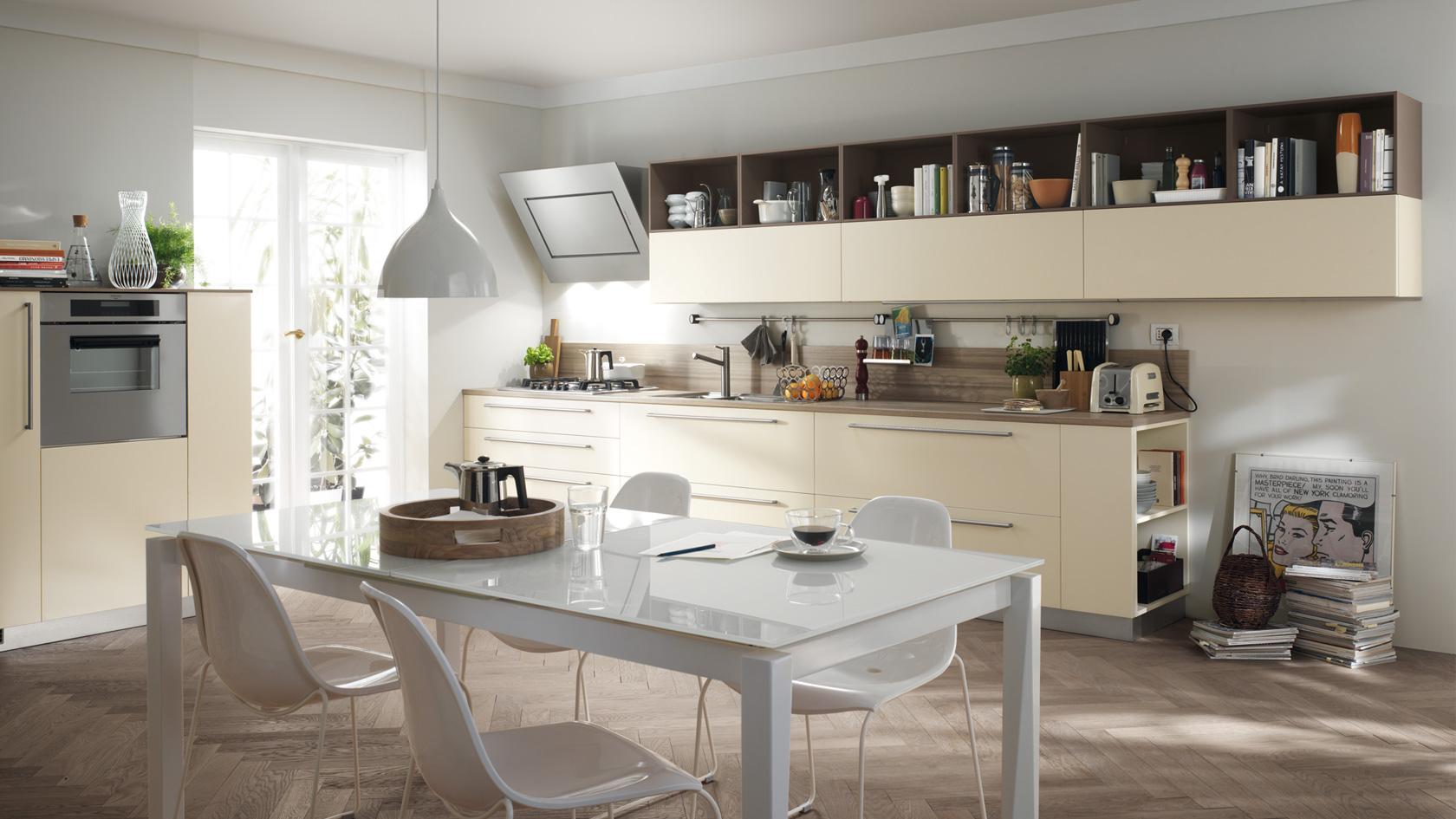 Kuchnia Scavolini, model Open, fornir naturalny